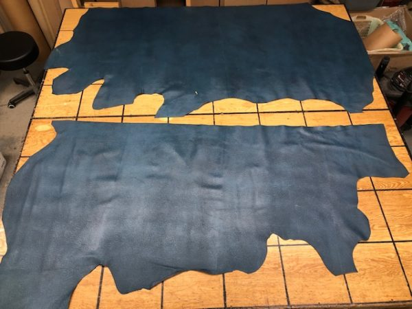 Sting Ray Pattern Blue Cowhide Sides with a Very Convincing Pattern