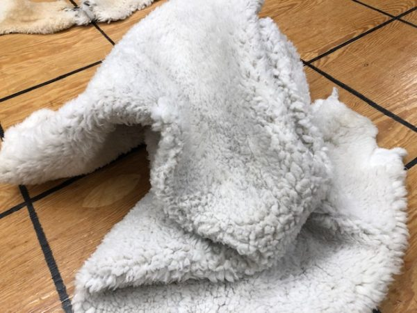 Hair On Sheep Hides, aka Shearling or cropped sheep hides, soft and furry