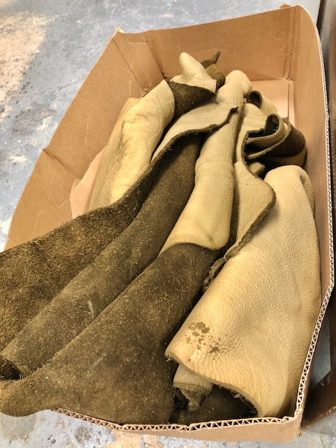 Genuine Bison Hides, 10-11 oz in Thickness, Mocha Tan Color, Sueded backs, 12 to 13 sq ft each