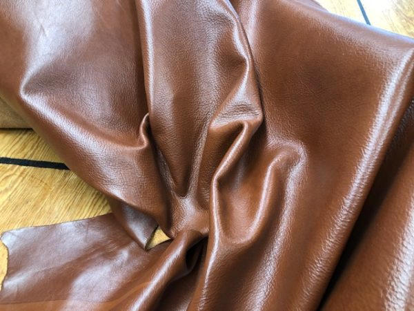 Chestnut Brown Whole Hide is soft leather for garments or upholstery work