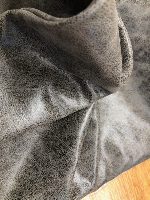 Granite Gray Whole Hide is soft leather for garments or upholstery work