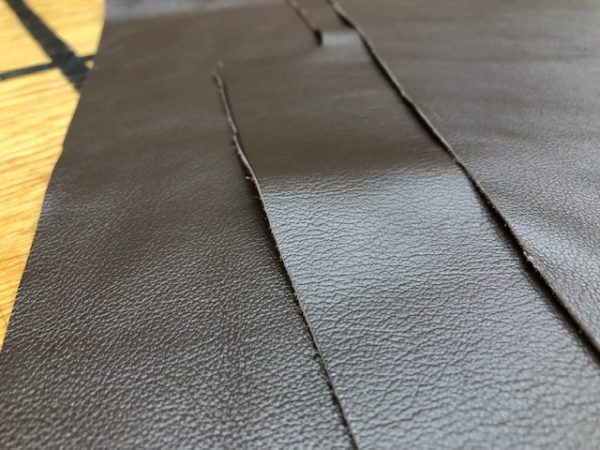 Set of Rich Brown Nappa Leather Panels being sold as one lot