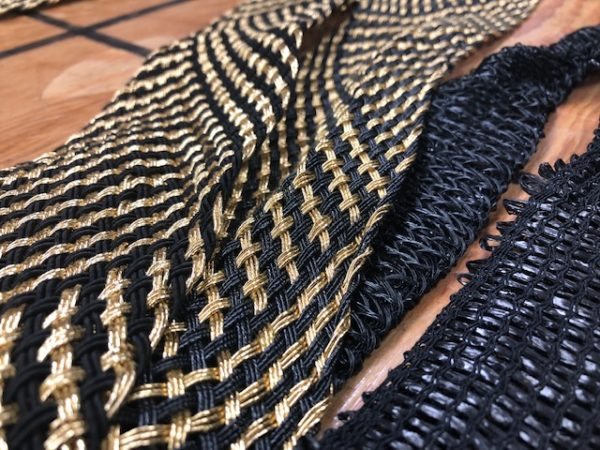 Collection of Woven Sash Belts and Some are Metallic Looking