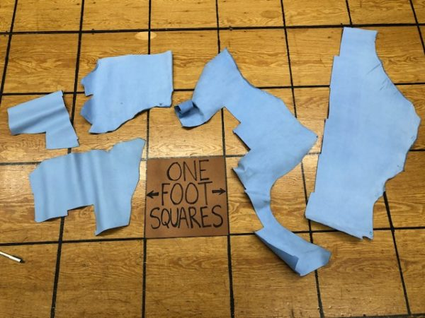 Set of Nubuck Panels, 6 oz, in Pastel Blue, sold only as a set