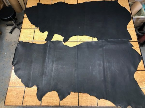 BLACK-SIX: 6 Ounce Firm USA Cattlehide Sides in Black, Smooth Surface, Holds Shape Very Well