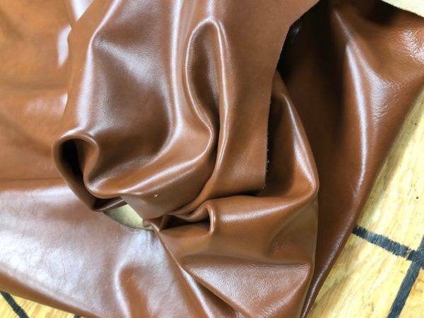 Chestnut Brown Whole Cattlehides for Upholstery or Garments, Smooth, Glossy Finish