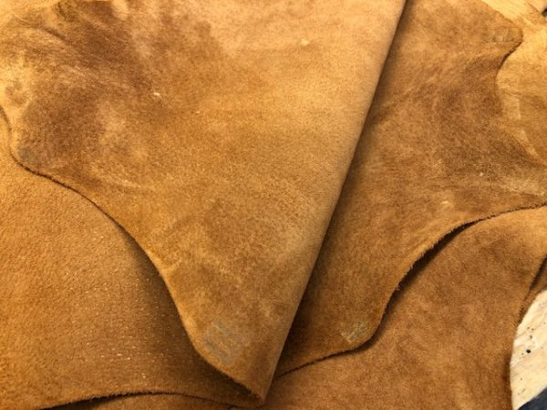 Cinnamon Pig! Pigskin Leather, Chromium Tanned, Drum Dyed, 6-7 sq ft: $28 each, USA Shipping Included