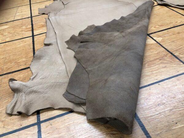 Genuine Bison Hides, 5-6 oz in Thickness, Mocha Tan Color,