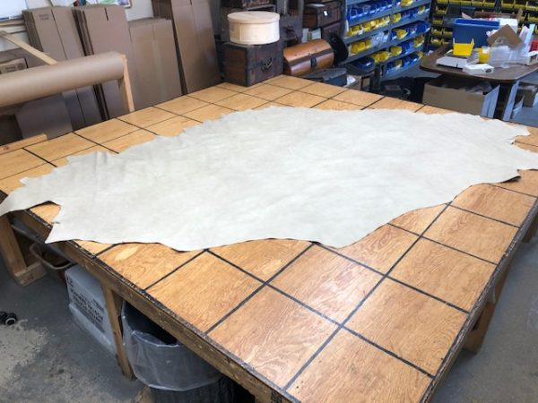 Oatmeal Partial Cowhide is soft and supple garment or upholstery leather