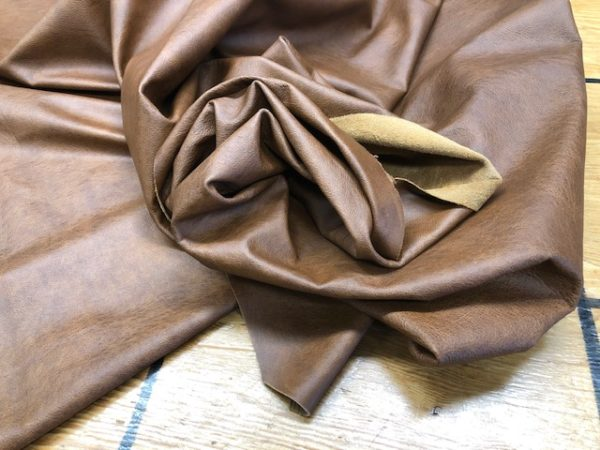 Whole Hides: Old Oak Brown LARGE Full USA Cattlehide for Garments or Upholstery