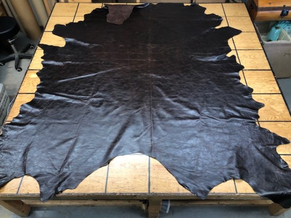 Whole Hides: Wicked Heavy Dark Brown Whole USA Cattlehide Leather Hides