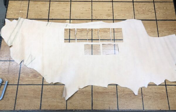Leather Hide Clearance Item 145 Tan Nubuc Cattlehide Side 18 square feet 4 oz or 1.6 mm