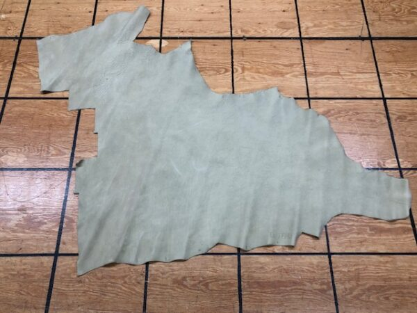 Leather Hide Clearance Item 148 Milled Tan Nubuc Panel 5 Ounces 10 Sq Ft