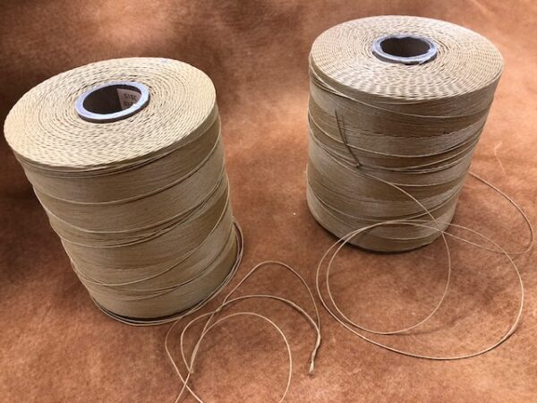 One Pound Spools of Fox Glazed (Tan) 3 Cord or 4 Cord Thread with Free USA Shipping