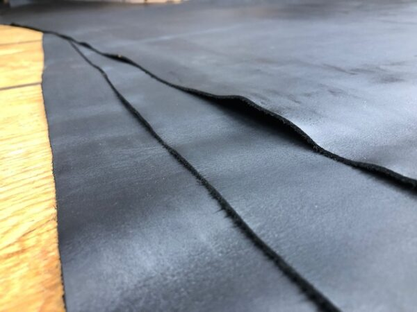 Black Utility Sides are Chromium Tanned USA Cattlehide Leather, 4.25 oz or 1.8 mm, over 23 square feet