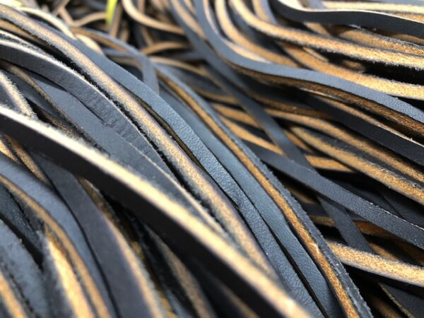 Dark Brown Oil Tanned Leather Laces, 72 inches up to 80 inches Long; Heavy Duty Laces