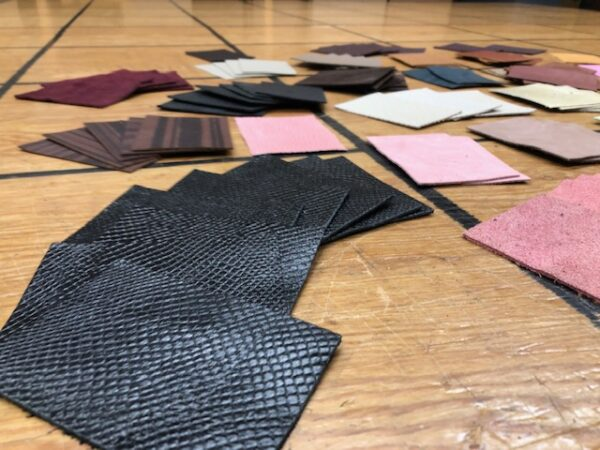 Leather Clearance Lot 154 Large Set of 125 Small Leather Pieces