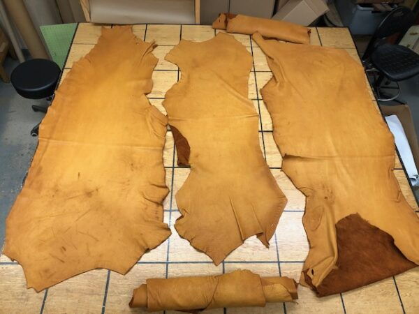 USA Bison Sides in Saddle Tan are thick but soft hides and USA Addresses Ship Free!