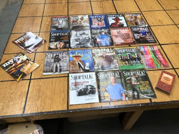 Collection of Shop Talk magazines from 2019-2020 Plus Video on Making Chaps