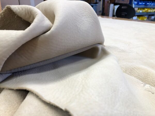 milled tan side leather soft and thick