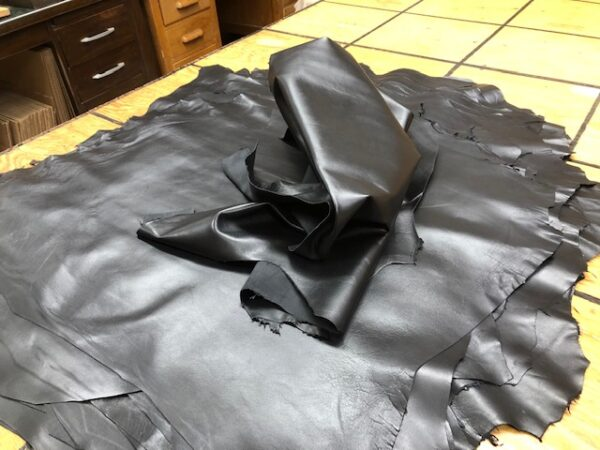Soft Thin Smooth and Very Black Leather Hides, Sheep Napa hides sold one at a time or in sets