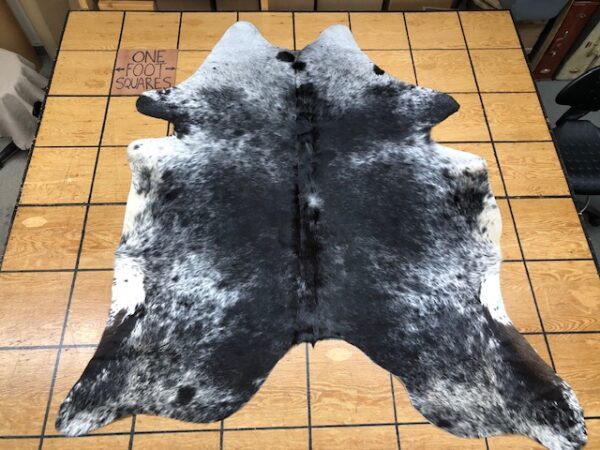 Hair On Cowhide 222 in black and white - Tanned and Finished in Brazil with Free USA shipping