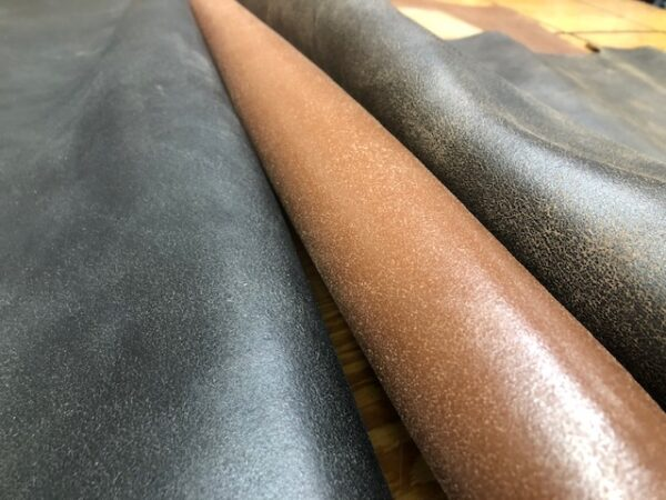 Leather Hide Clearance Sale Item 248 Finished Splits in 7 oz Weight