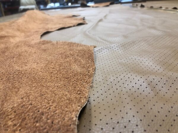 Cocoa Perforated Upholstery Sides are soft and run large over 20 square feet each free USA shipping
