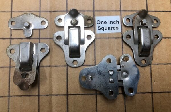 HASP27 Nickel Plated Smaller Closure or Hasp for Small Cases boxes humidors 2 hasps per package