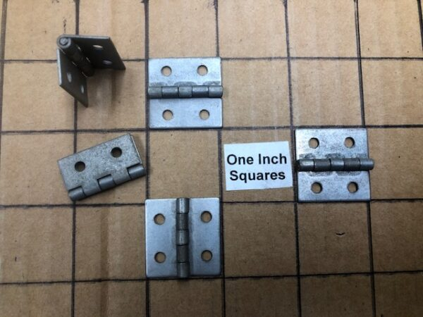 Small Nickel Plated Hinges for Tackle Boxes, Wine Boxes, Instrument Cases, and Other Small Boxes HNG-28