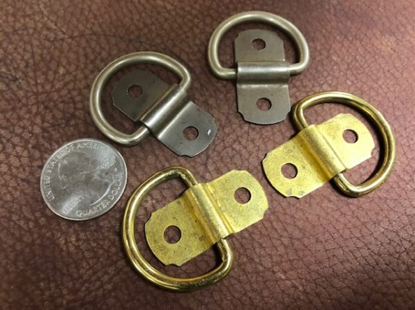 LOOP14 New Old Stock from the 1940s choose brass or nickel plate one inch d-rings