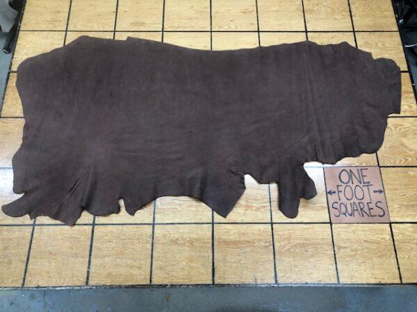 Heavy Grain Dark Brown Cattlehide Side with Great Texture