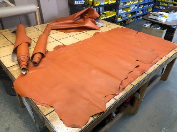 LARGE Sides of Basketball Leather for Making Historically Correct Basketball Related Stuff