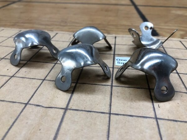 Smaller Sized Trunk Corners in Nickel Plated Steel, Sold in Sets of 4 with Free USA shipping CRNR37