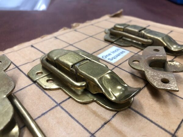 Sturdy Brass Plated Drawbolts or Hasps were Made in the 1930s