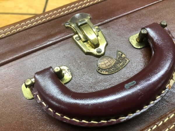 Pair of Stratosphere Luggage Cases with Leather Edges