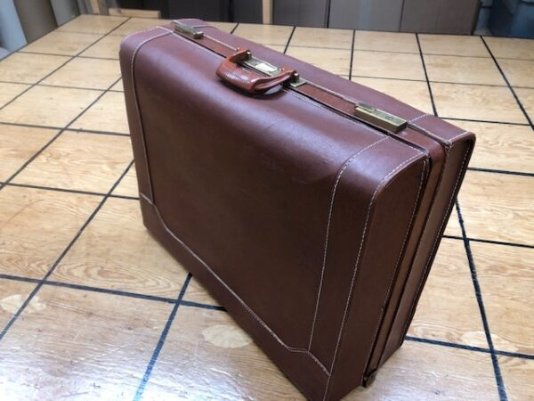 Vintage Suitcase Covered with Imitation Leather
