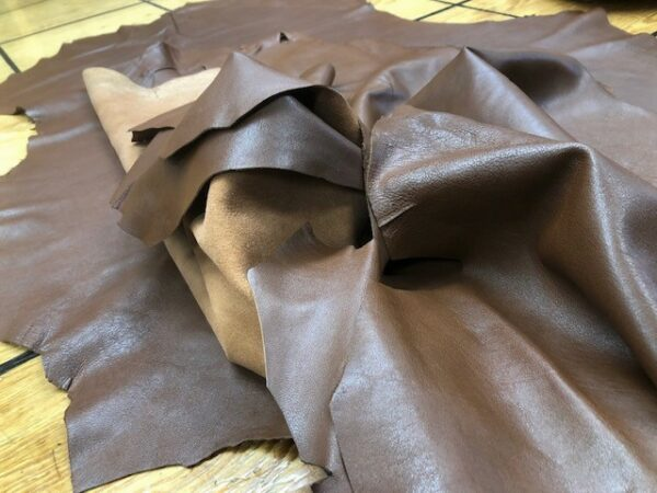 Soft and Supple Dark Brown Sheep Leather Hides