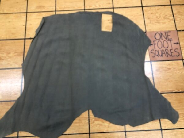 Leather Hide Clearance Sale Item 268 Olive-Brown Double Butt with Basket Weave Pattern