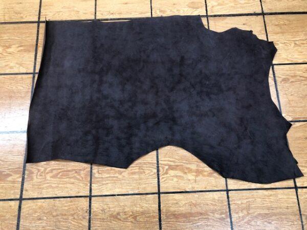 Leather Hide Clearance Sale Item 276 Dark Brown Nubuc Panel in 4.5 oz