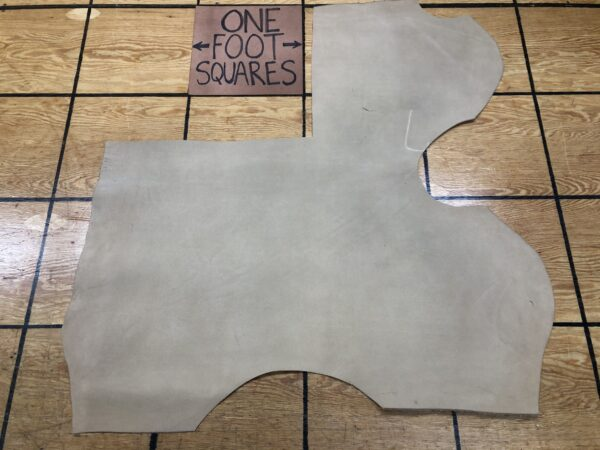 Leather Hide Clearance Sale Item 283 Light Tan Suede USA Cattlehide Leather Panel