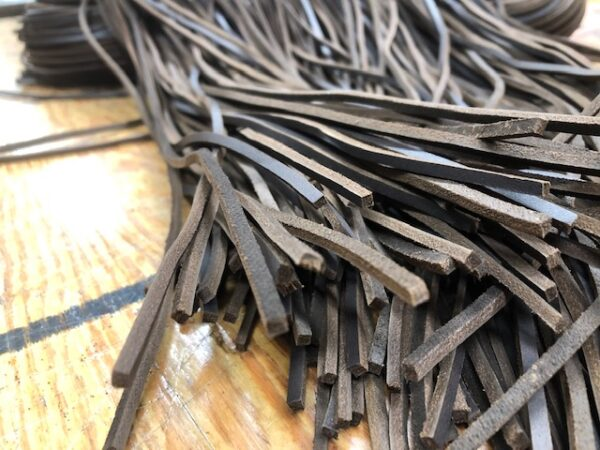 Dark Coffee Leather Laces 72 inches Long Each