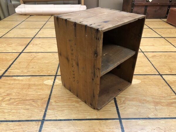 T920 Simple Two Compartment Antique Storage Box