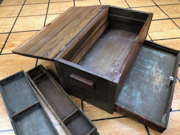T937: Tool Box Made of Cherry Wood