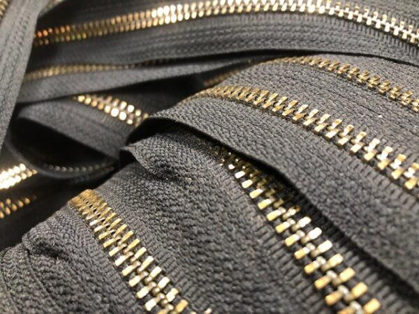 #5 Brass Zippers sold by the Yard up to 150 yards continuous $2 per yard with free USA shipping