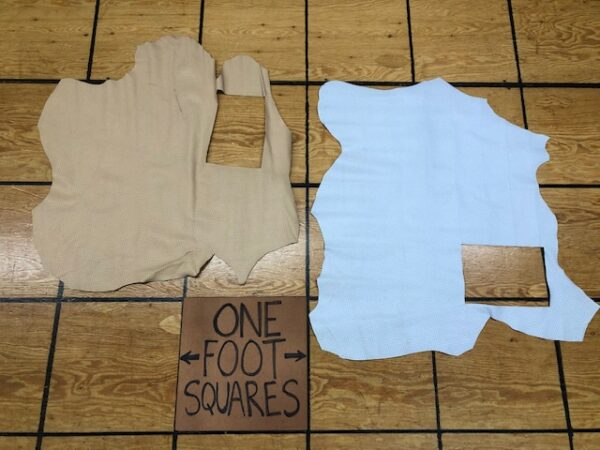 Leather Hide Clearance Sale Item 288 Two Perforated Lamb Skins