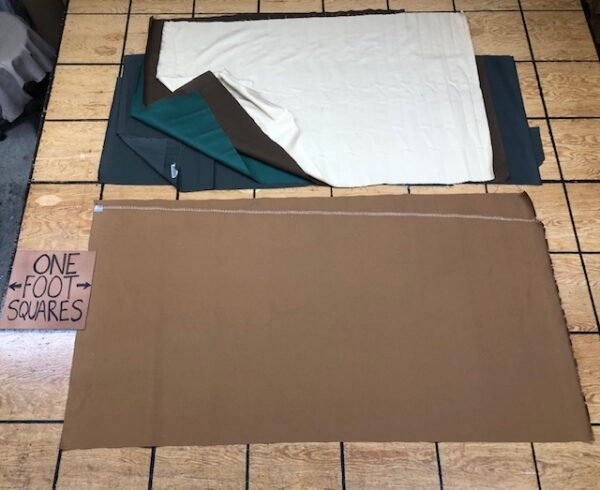 BV Clearance Sale item 298: Mix of left over trunk canvas panels, about 5 yards