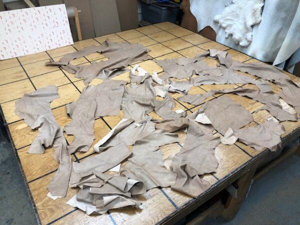 Leather Hide Clearance Sale Item 299 Set of Garment Soft Mocha Pieces