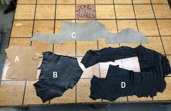 Leather Hide Clearance Sale Items 302A 302B 302C and 302D